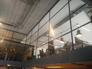 Stahl-Look Glastrennwände 5