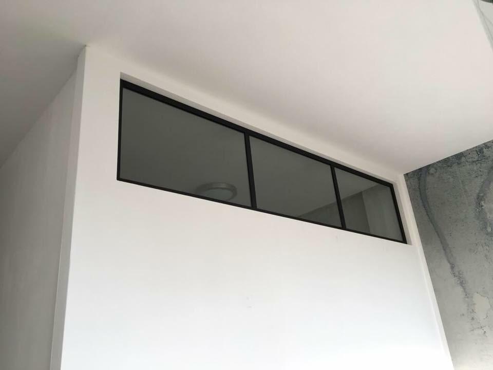 Stahl-Look Glastrennwände 12